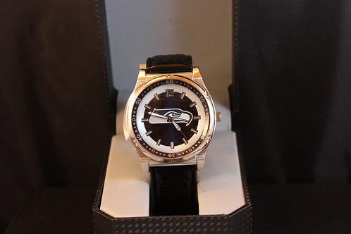 NFL Licensed Watch/Seattle Seahawks/Leather Band