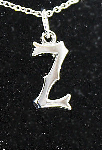"""Sterling Silver  'Z'  Pendant With 18"""" Chain"""