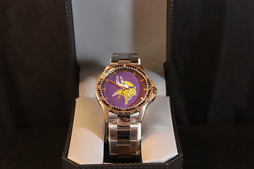 NFL Licensed Watch/Minnesota/Stainless Steel