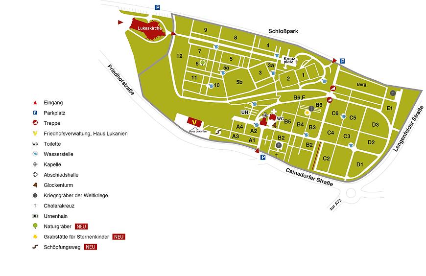 Friedhof Planitz Lageplan