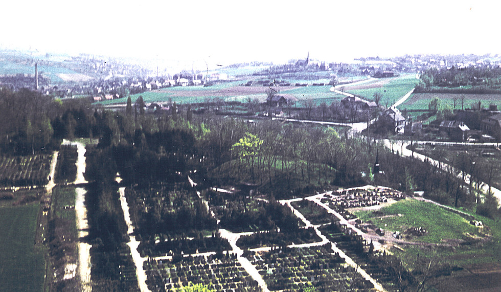 Blick von Lukaskirche um 1960