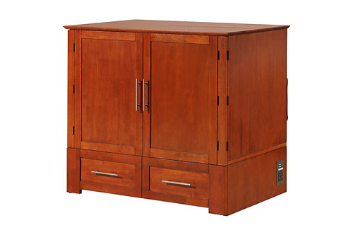 Daily Delight Murphy Cabinet Chest Bed CHERRY TWIN XL