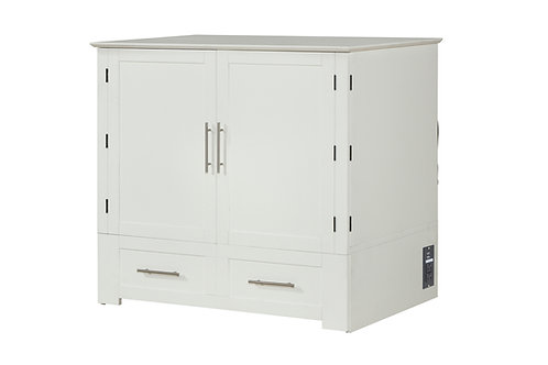 Daily Delight Murphy Cabinet Chest Bed WHITE TWIN XL