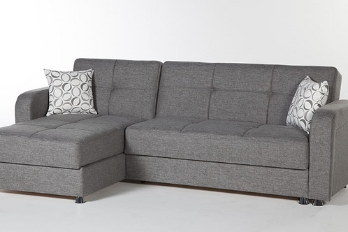 Vision Diego Gray Sectional Sofa