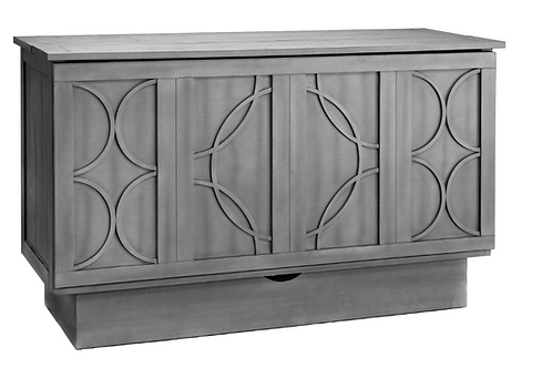 Brussels Queen Murphy Cabinet Bed Charcoal