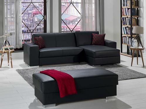 Kobe Santa Glory Black Sectional Sofa