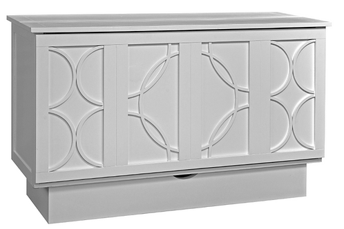 Brussels Queen Murphy Cabinet Bed White