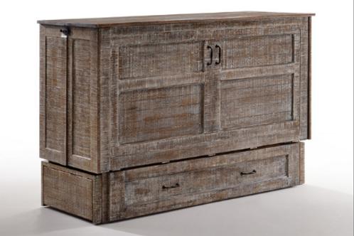 Poppy Murphy Cabinet Bed White Bark