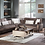 Thumbnail: Natural Prestige Brown Sectional Sofa