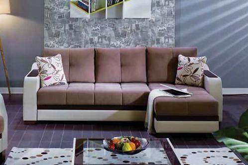 Ultra Optimum Brown Sectional Sofa