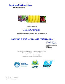 2020.03.14 Nutrition & Diet for Exercise