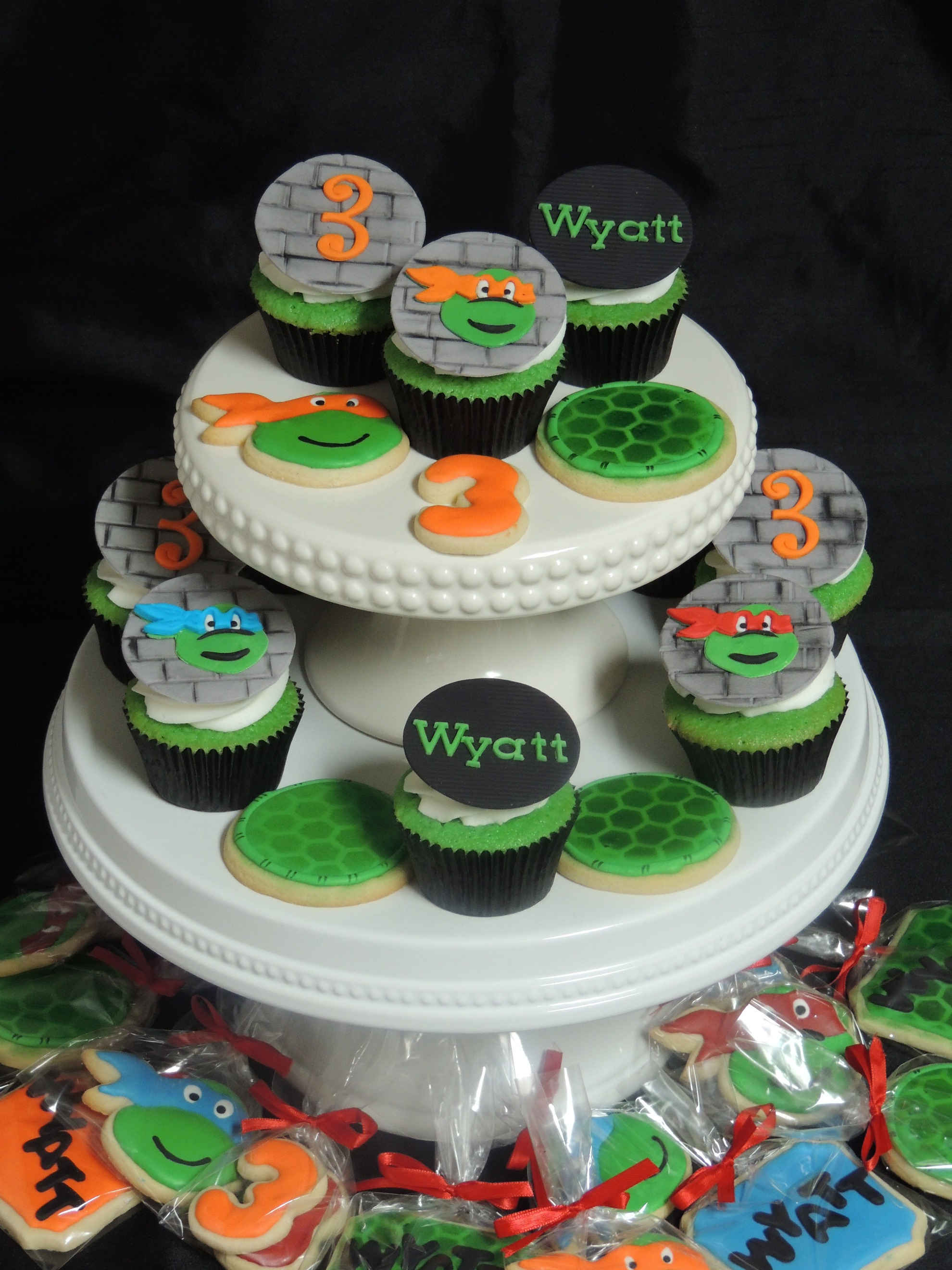 Ninja Turtle Cookie and Cupcakes