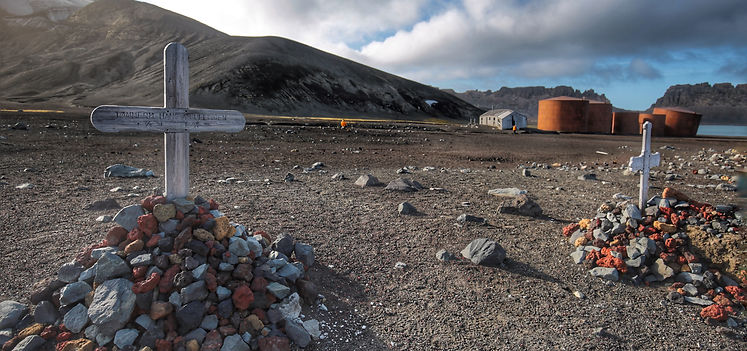 Friedhof auf Whaler's Bay, Deception Island, South Shetland Islands