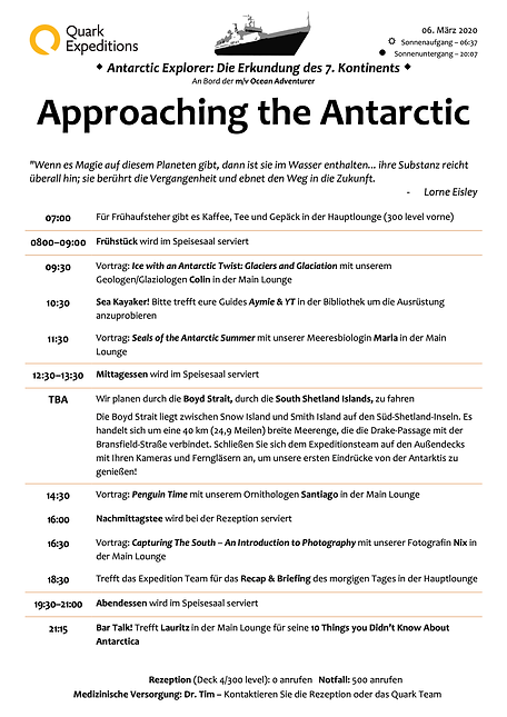 Approaching the Antarctic