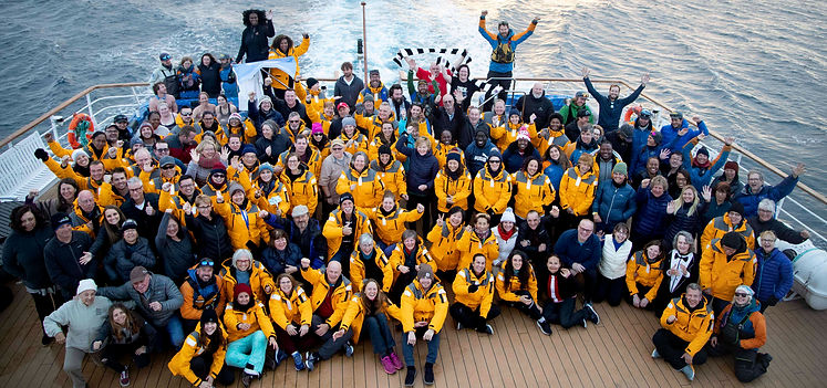 Gruppenfoto der Antarktis Explorer_Foto: Nicky Souness