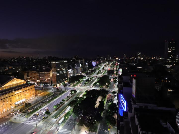 Blick auf die Avenue 9 de Julio