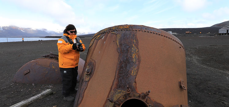 Tanks auf Whaler's Bay, Deception Island, South Shetland Islands