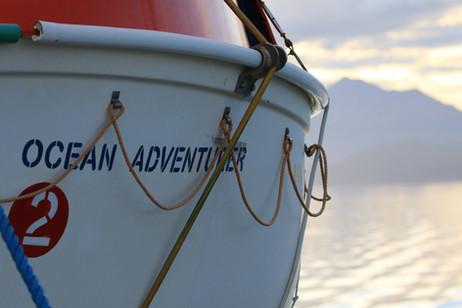Eines der vielen Rettungsboote
