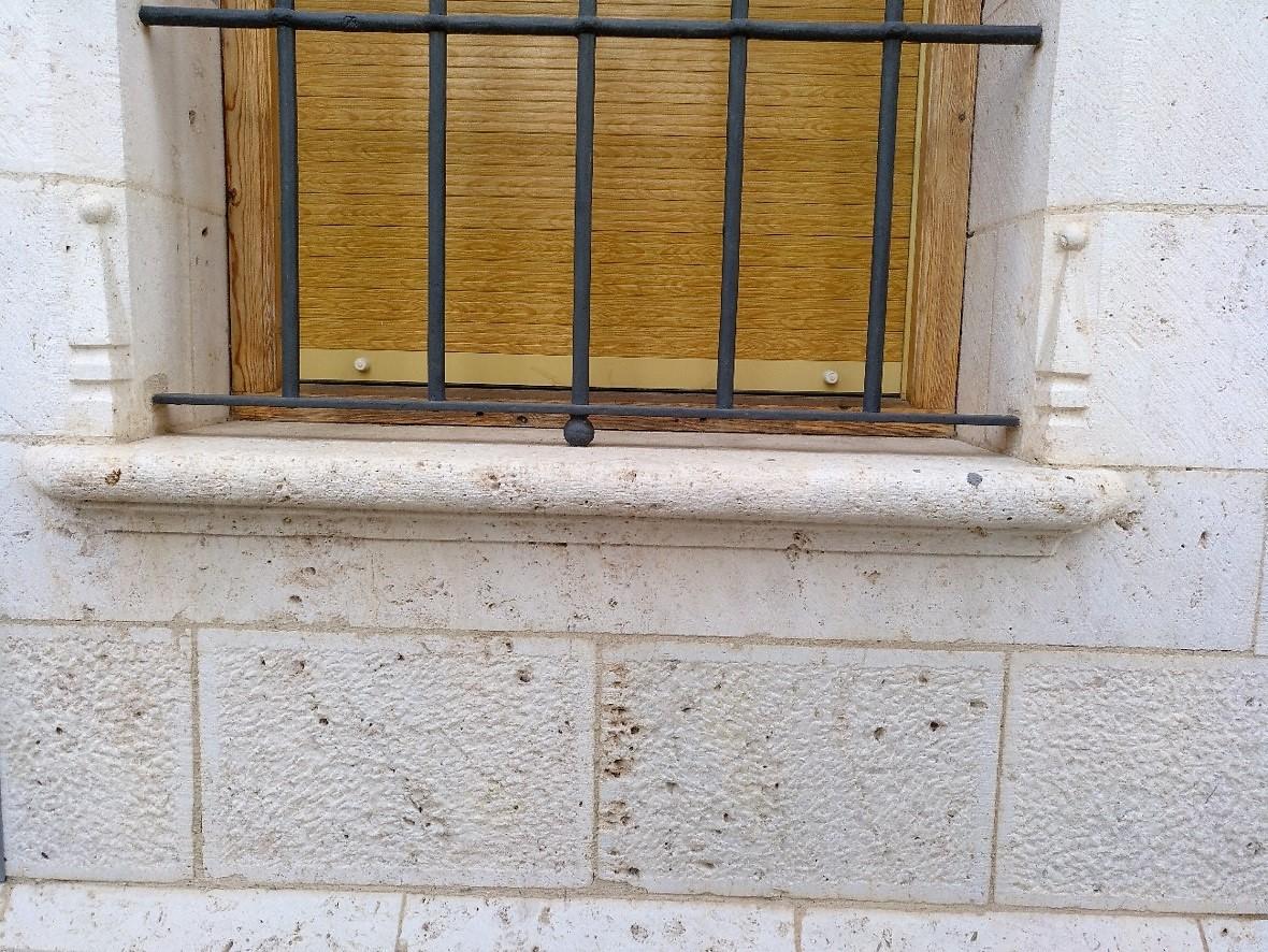Moldura ventana-piedra-artesanía-talla-