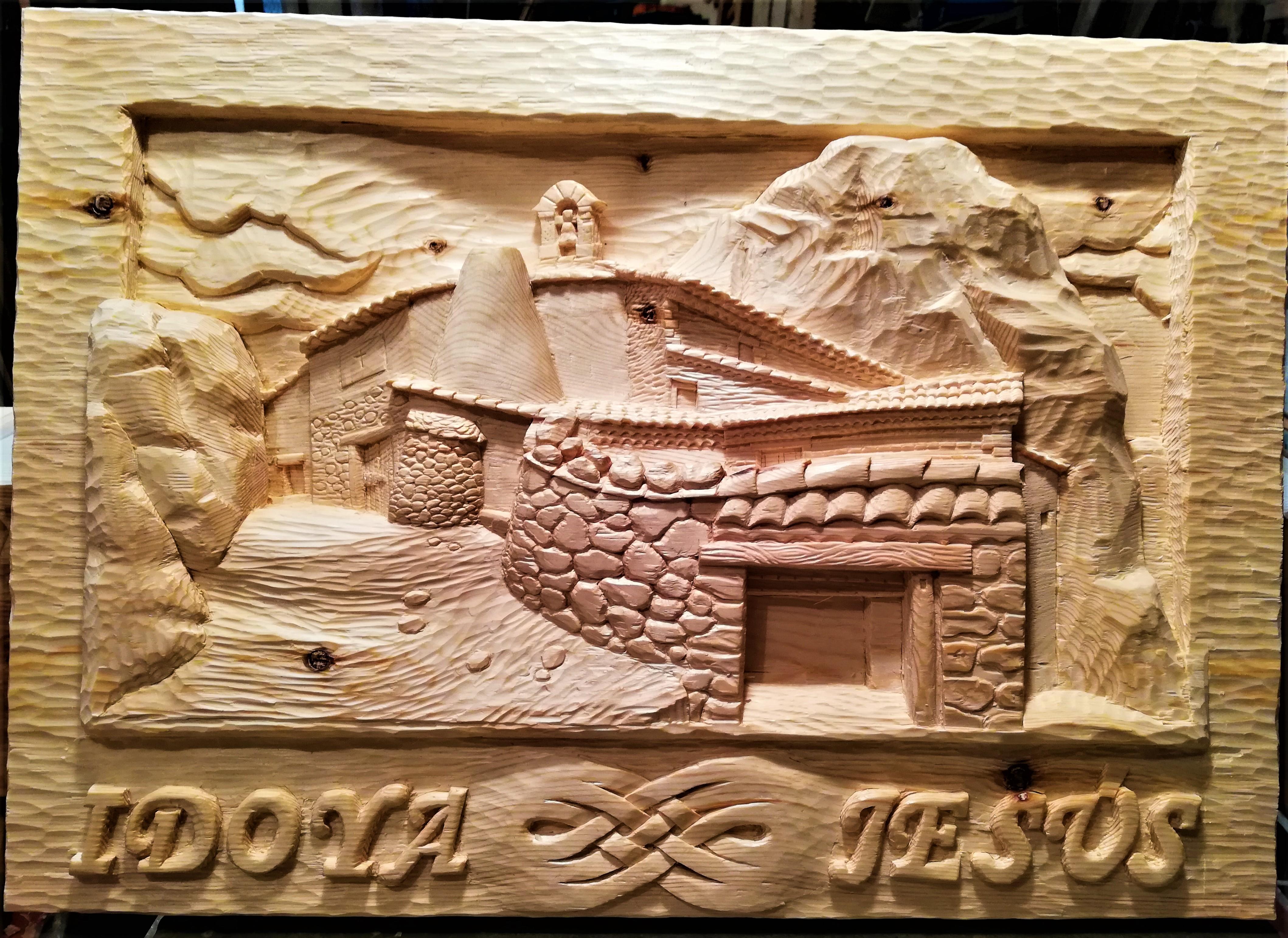 Cuadro Idoya Jesús-piedra-artesanía-tall