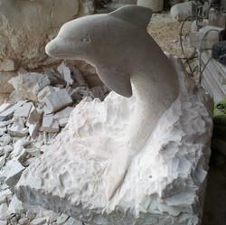 Delfín2-piedra-artesanía-talla-caliza bl