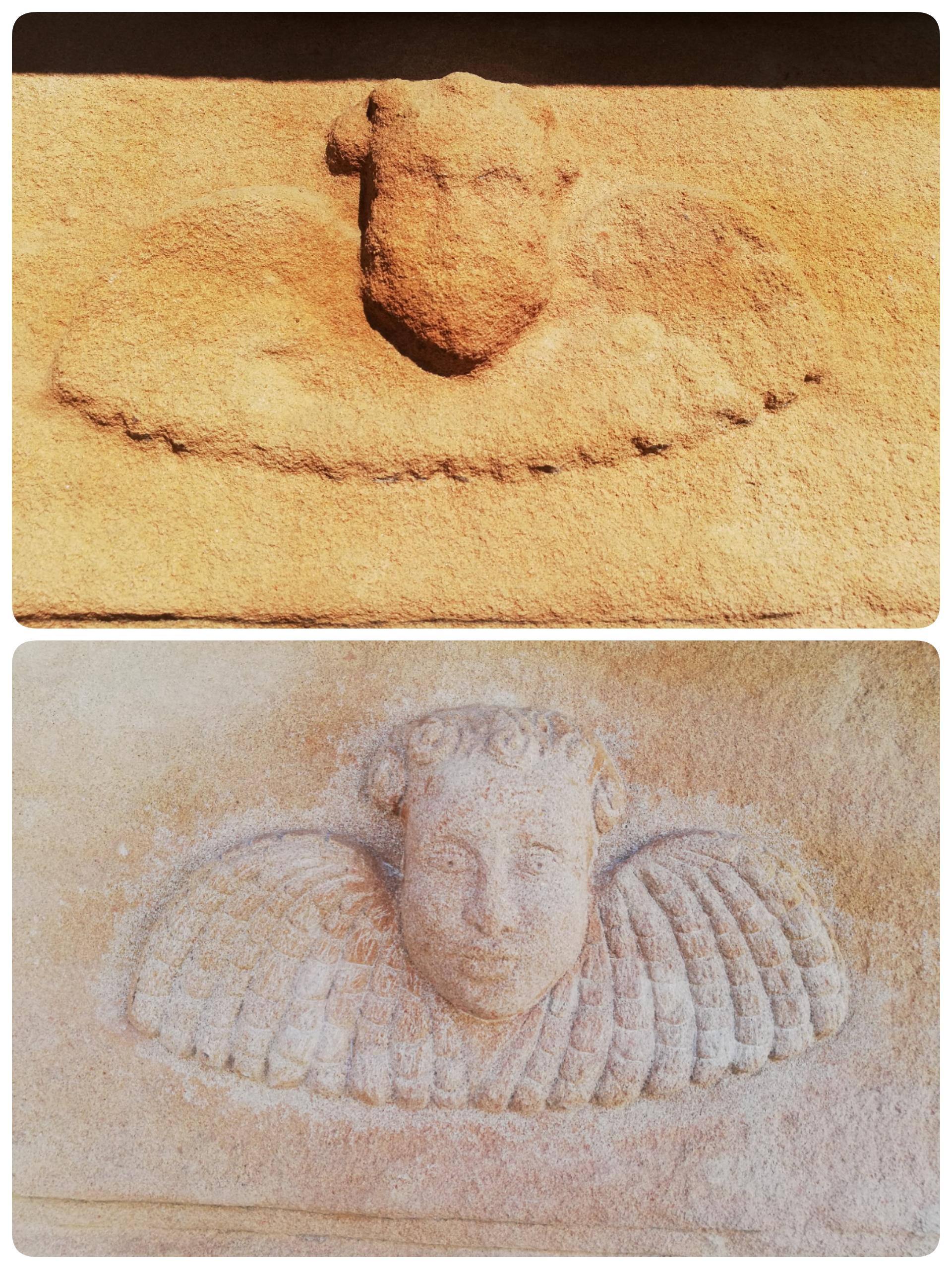Restauración angel-piedra-artesanía-tall