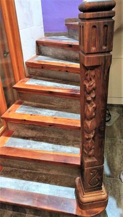 Arranque escalera-piedra-artesanía-talla
