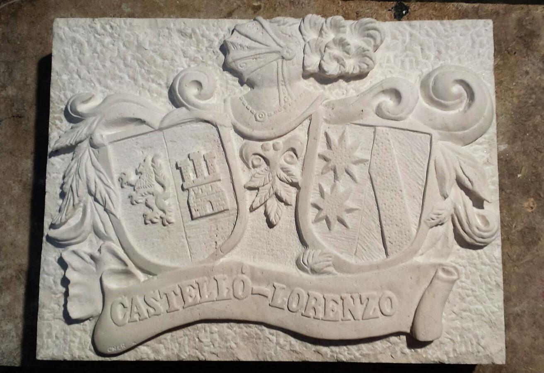 Escudo castelló lorenzo-piedra-artesanía