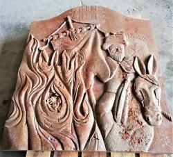Cuadro encamisada-Estercuel-piedra-artes