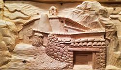 Cuadro- San pedro-piedra-artesanía-talla