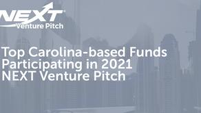 NEXT Venture Pitch Announces Top Carolina-based Funds to Participate in 2021 NEXT Venture Pitch