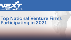 NEXT Venture Pitch Announces Top National Venture Firms to Participate in This Year's Annual Event