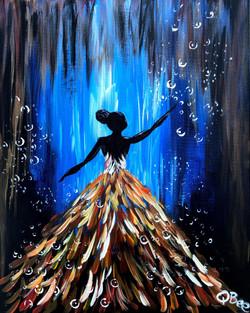 Ebony Princess - blue