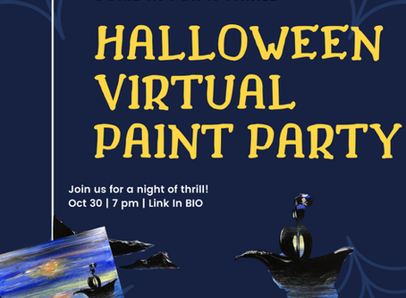 Halloween Virtual Sip and Paint Party