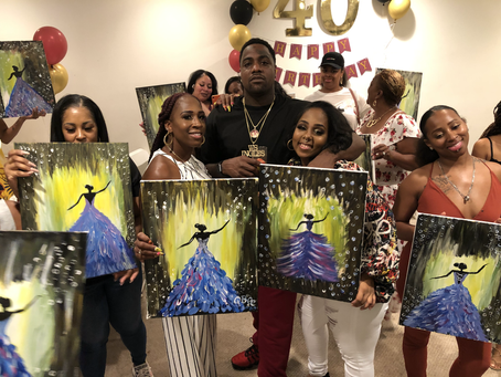40th Birthday  Sip And Paint Party
