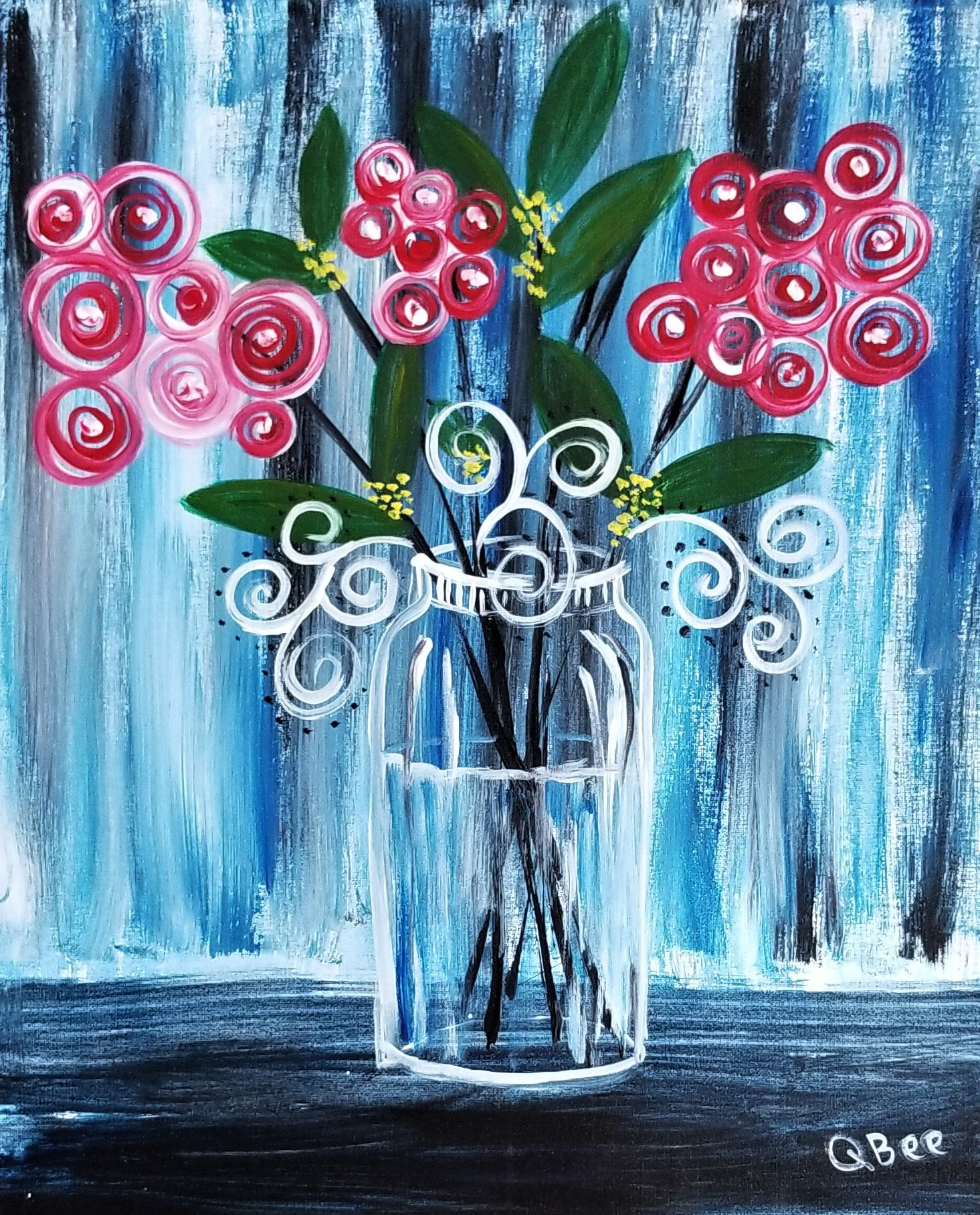 Whimsical Jar Flowers