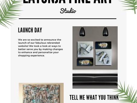 Website from latonja Fine Art is Live 🚀