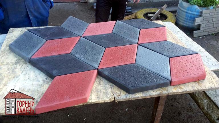 Тротуарная плитка 3D ромб