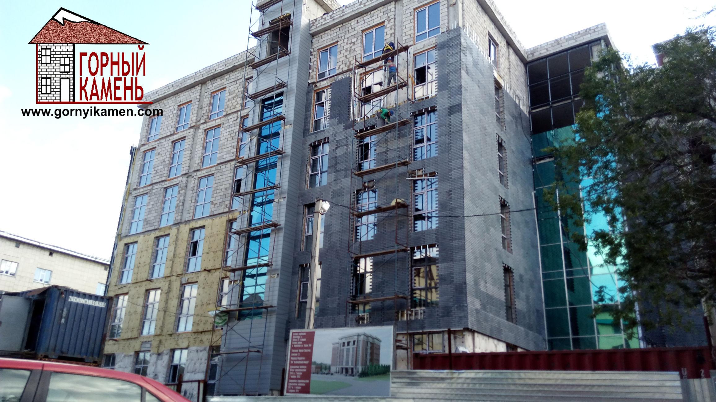 Фасадные панели под кирпич из бетона