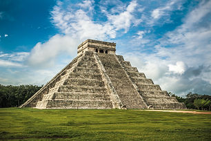 El Castillo or Temple of Kukulkan pyrami