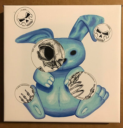 Bunny Death Bubble canvas