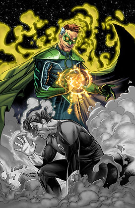 Dark Reflections Green Lantern (grey scale)