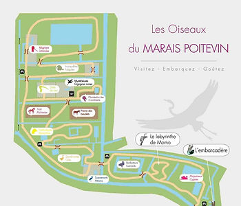 Plan du Parc ornithologique