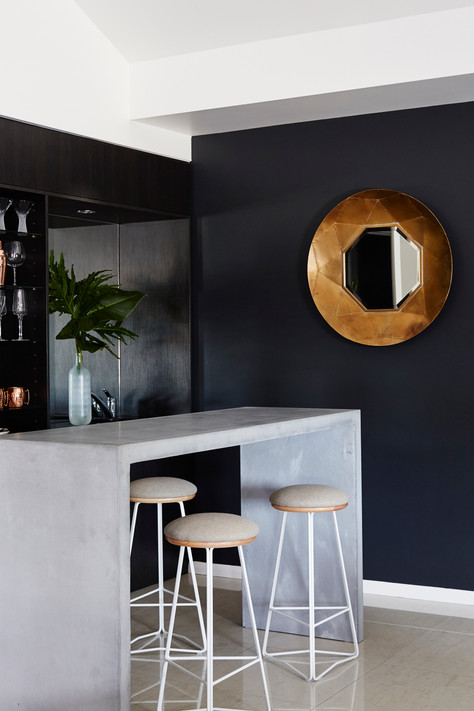 Bowl Mirror and Styling (as featured in Houzz)