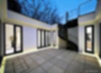PFG Design, Architects & Designers, Rickmansworth, The Underground House courtyard