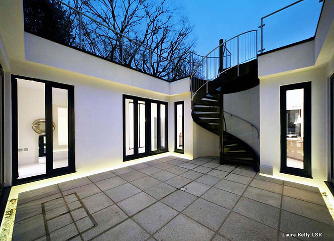 PFG Design, Architects & Designers, Rickmansworth, The Underground House courtyard