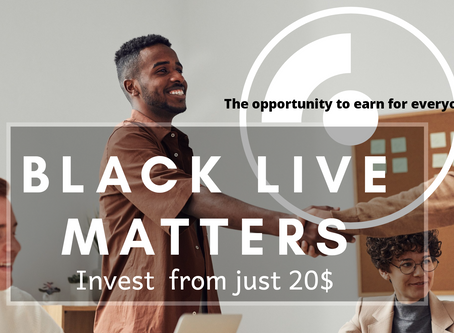Black live matters! We give opportunities for every one!
