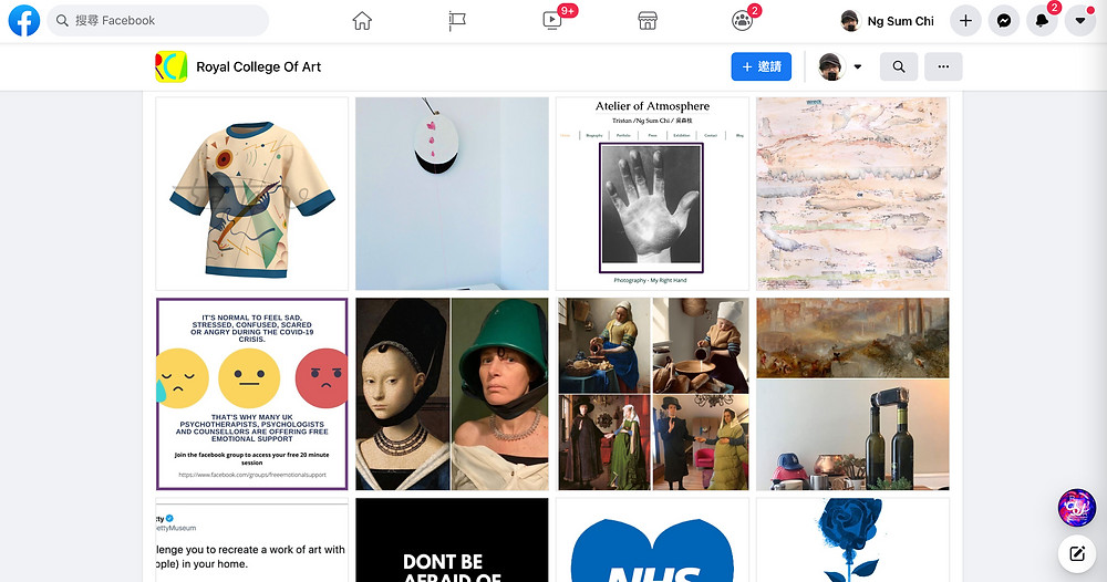 Royal college of art already putted my work on their Facebook again.
