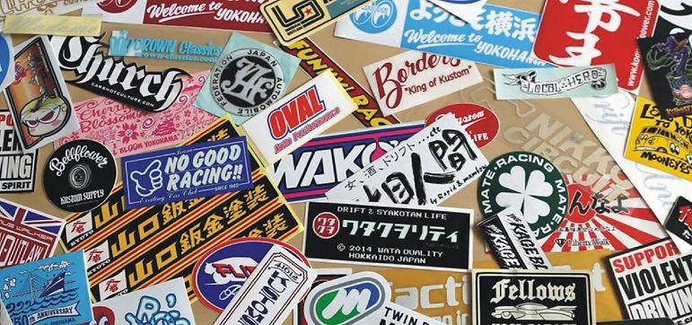 Bumper stickers, vinyl stickers