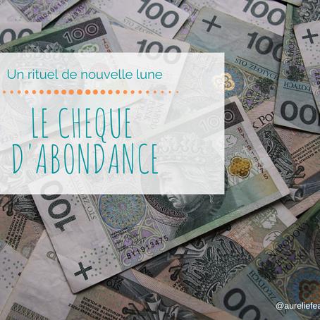 Rituel du chèque d'abondance